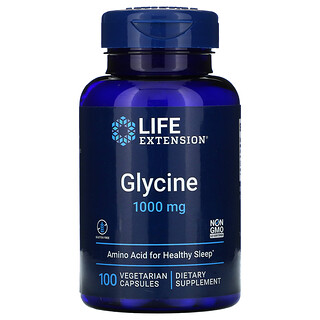 Life Extension, Glycine, 1,000 mg, 100 Vegetarian Capsules
