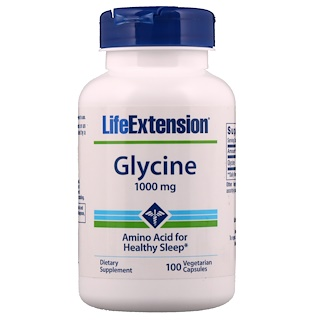 Life Extension, Glycine, 1000 mg, 100 Veggie Caps