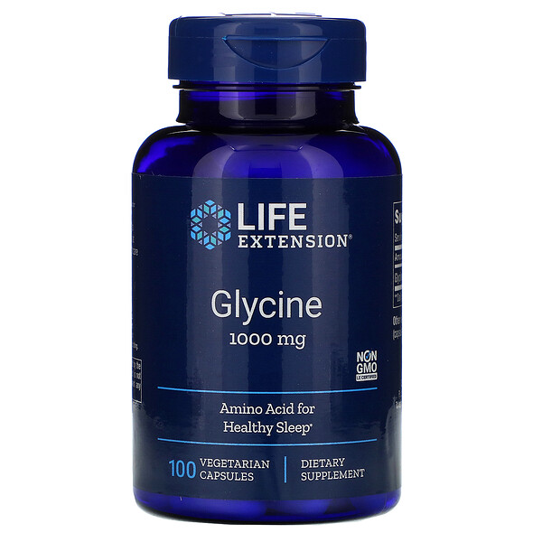 Life Extension, Glicina, 1000 mg, 100 cápsulas vegetarianas