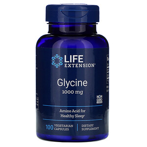 Лайф Экстэншн, Glycine, 1,000 mg, 100 Vegetarian Capsules отзывы покупателей