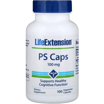 Купить PS Caps, 100 mg, 100 Vegetarian Capsules