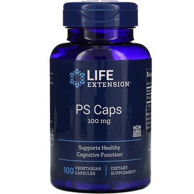 Life Extension PS Caps, 100 mg, 100 Vegetarian Capsules