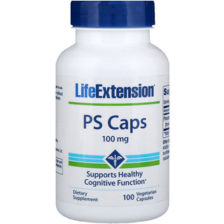 Life Extension, PS Caps, 100 mg, 100 Vegetarian Capsules