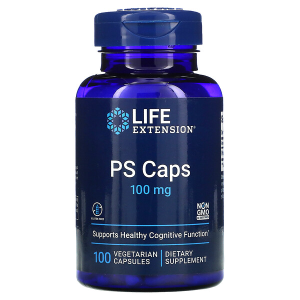 PS Caps, 100 mg, 100 Vegetarian Capsules