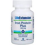 Отзывы о Life Extension, Iron Protein Plus, железосодержащий белок, 300 мг, 100 капсул