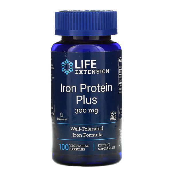 Iron Protein Plus, 300 mg, 100 Vegetarian Capsules