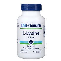 Life Extension, L-Lysine, 620 mg, 100 Vegetarian Capsules