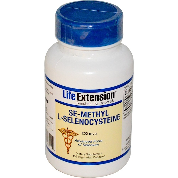 Life Extension, Se-Methyl L-Selenocysteine, 200 mcg, 100 Veggie Caps (Discontinued Item)