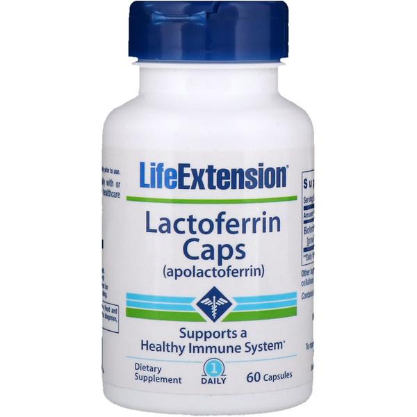 Life Extension, Lactoferrina cápsulas, 60 cápsulas