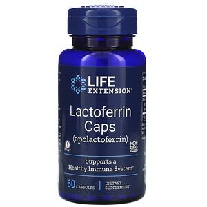 Лайф Экстэншн, Lactoferrin Caps, 60 Capsules отзывы