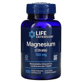 Life Extension, Magnesium (Citrate), 100 mg, 100 Vegetarian Capsules
