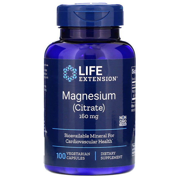 Life Extension, Magnesium, 160 mg, 100 Vegetarian Capsules