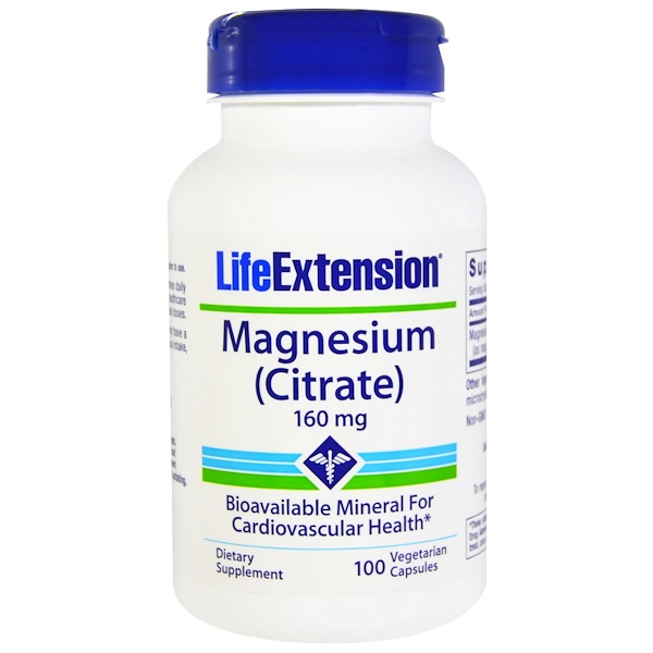 Life Extension, Magnesium (Citrate), 160 mg, 100 Veggie Caps