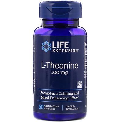 L-теанин, 100 мг, 60 растительных капсул