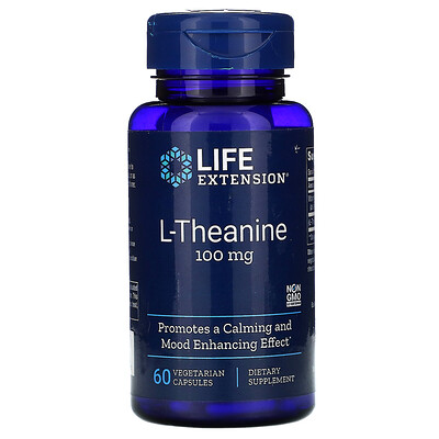 Life Extension L-Theanine, 100 mg, 60 Vegetarian Capsules