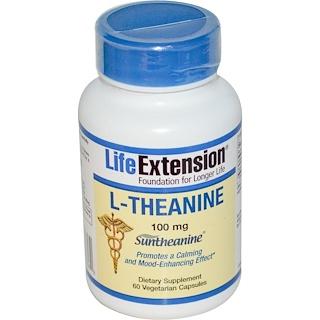 Life Extension, L-Theanine, 100 mg, 60 Veggie Caps