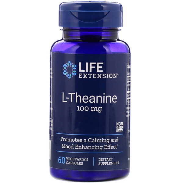 L-Theanine, 100 mg, 60 Vegetarian Capsules