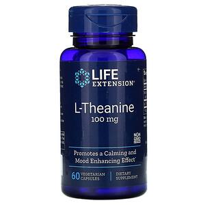 Лайф Экстэншн, L-Theanine, 100 mg, 60 Vegetarian Capsules отзывы
