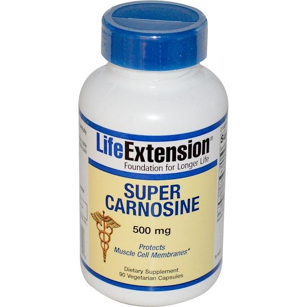 Life Extension, Super Carnosine, 500 mg, 90 Veggie Caps (Discontinued Item)
