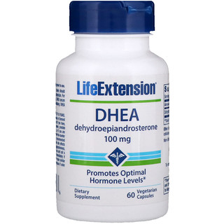 Life Extension, DHEA, 100 ملغ، 60 كبسولات نباتية