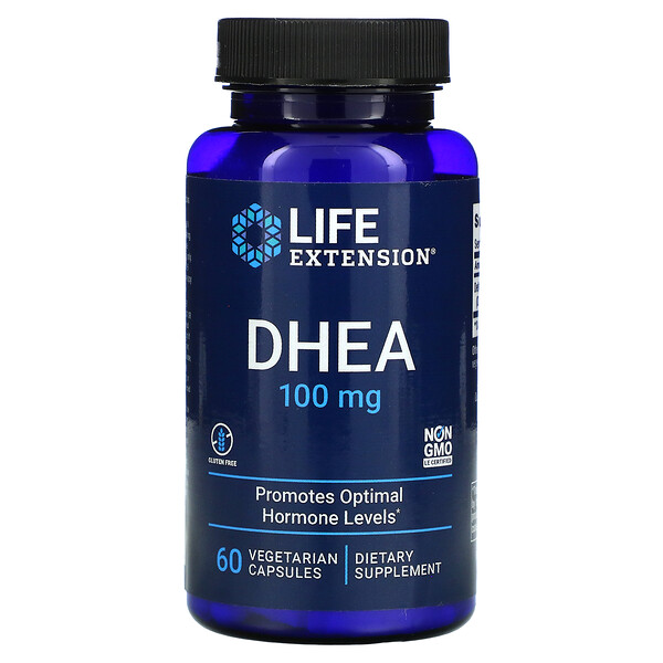 DHEA, 100 mg, 60 Vegetarian Capsules