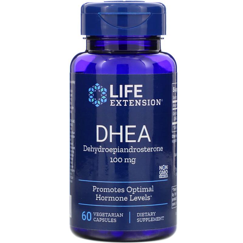 Life Extension, DHEA,100毫克,60粒素食膠囊
