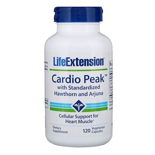 Life Extension, Cardio Peak with Standardized Hawthorn and Arjuna, 120 Vegetarian Capsules