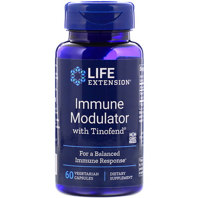 Купить Life Extension Tinofend, иммуномодулятор, 60растительных капсул