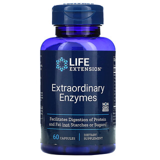 Life Extension, Extraordinary Enzymes, 60 Capsules
