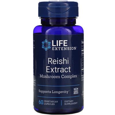 Life Extension Комплекс из экстракта грибов рейши, 60 вегетарианских капсул
