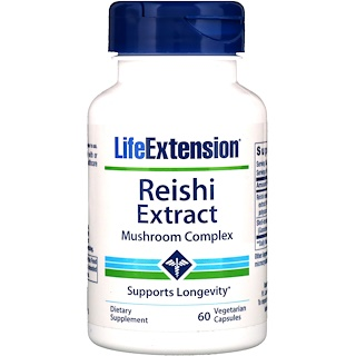 Life Extension, Reishi Extract Mushroom Complex, 60 Veggie Caps