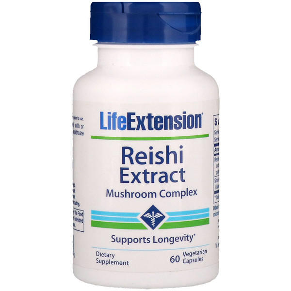 Life Extension, Reishi Extract Mushroom Complex, 60 Vegetarian Capsules