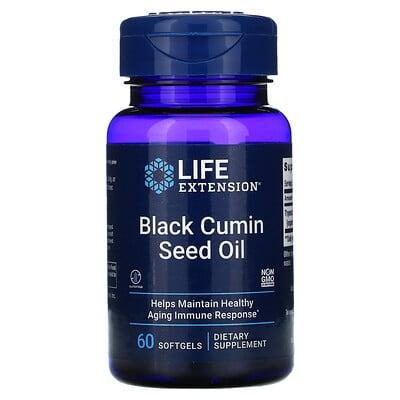 Купить Life Extension Масло семян черного тмина, 60 жевательных капсул