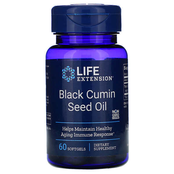Life Extension, Black Cumin Seed Oil, 60 Softgels