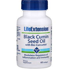 Life Extension, Black Cumin Seed Oil With Bio-Curcumin, 60 Softgels