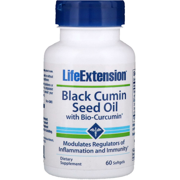 Life Extension, Black Cumin Seed Oil with Bio-Curcumin, 60 Softgels (Discontinued Item)