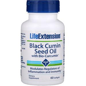 Лайф Экстэншн, Black Cumin Seed Oil with Bio-Curcumin, 60 Softgels отзывы