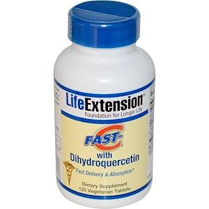 Life Extension, Быстрый витамин С с дигидрокверцетином, 120 растительных таблеток