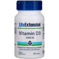 Витамин D3, 7,000 МЕ, 60 гелевых капсул - фото