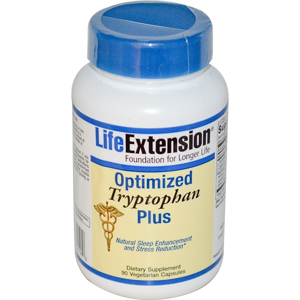 Life Extension, Optimized Tryptophan Plus, 90 Veggie Caps