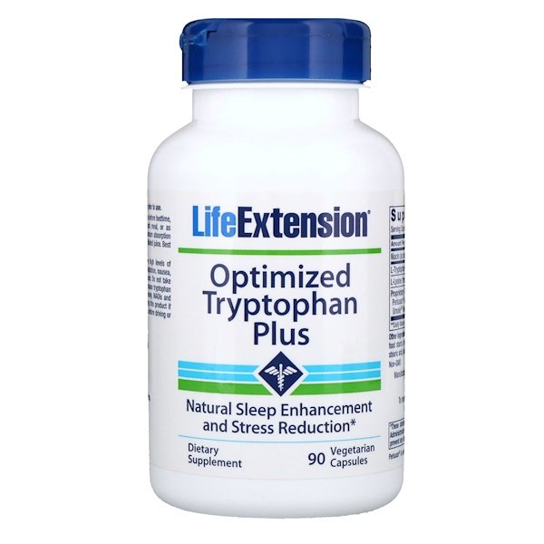Life Extension, Triptófano optimizado, 90 cápsulas vegetarianas