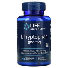 Life Extension, L-色氨酸,500 毫克,90 粒素食膠囊