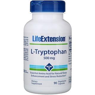 Life Extension, L-Tryptophan, 500 mg, 90 Veggie Caps