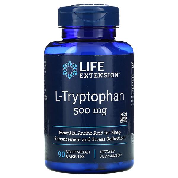 L-Tryptophan, 500 mg, 90 Vegetarian Capsules