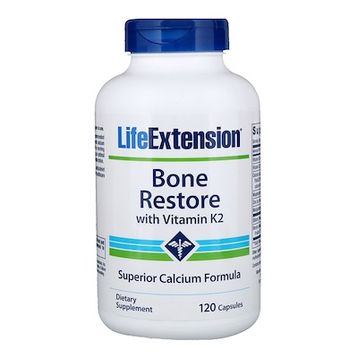 Купить Bone Restore, с витамином K2, 120 капсул
