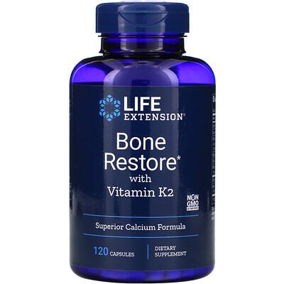 Bone Restore with Vitamin K2, 120 Capsules