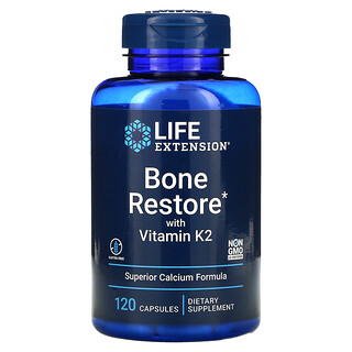 Life Extension, Bone Restore with Vitamin K2, 120 Capsules