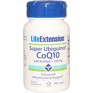 Life Extension, Super Ubiquinol CoQ10, with BioPQQ, 100 mg, 30 Softgels