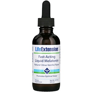 Лайф Экстэншн, Fast-Acting Liquid Melatonin, Natural Citrus-Vanilla Flavor, 2 fl oz (59 ml) отзывы