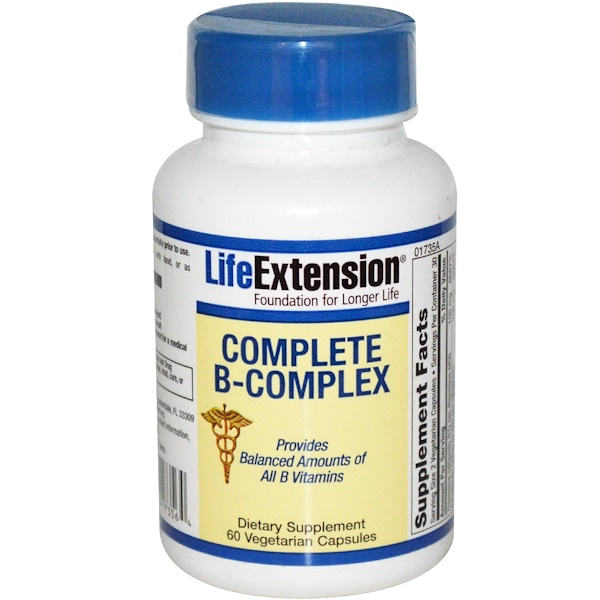 Life Extension, Complete B-Complex, 60 Veggie Caps (Discontinued Item)